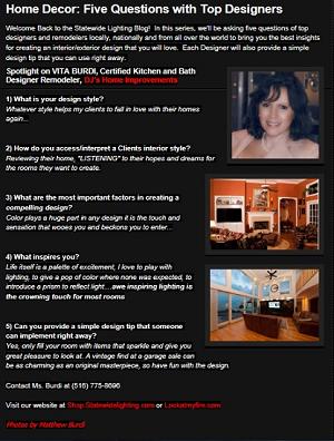Interview with Vita Anne Burdi, CKD CBD